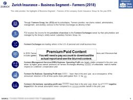 Zurich Insurance Business Segment Farmers 2018