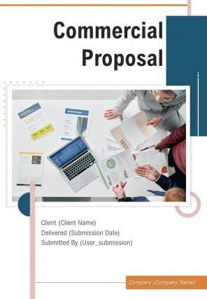 A4 Commercial Proposal Template