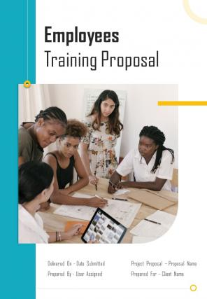 A4 Employees Training Proposal Template