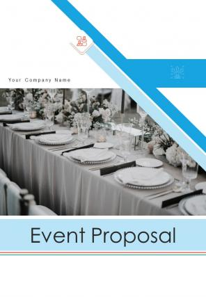 A4 Event Proposal Template
