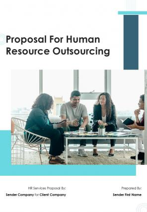 A4 For Human Resource Outsourcing Proposal Template