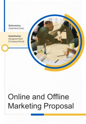 A4 Online And Offline Marketing Proposal Template