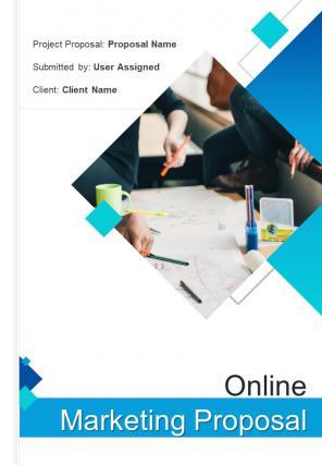 A4 Online Marketing Proposal Template