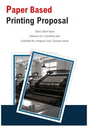 A4 Paper Based Printing Proposal Template