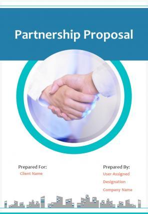 A4 Partnership Proposal Template
