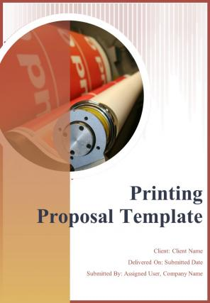 A4 Printing Proposal Template