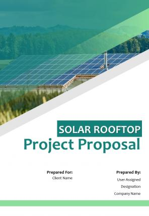 A4 Solar Rooftop Project Proposal Template