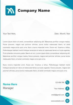 Accounts Management Letterhead Design Template