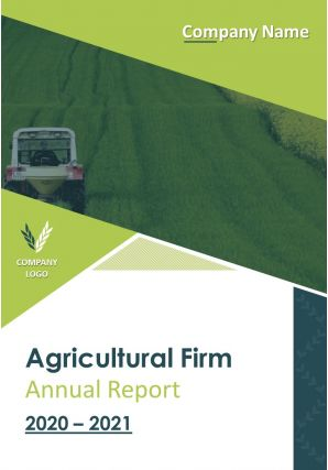 Agricultural Firm Annual Report PDF DOC PPT Document Report Template