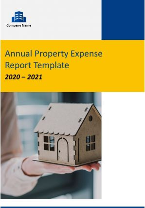 Annual Property Expense Report Template PDF DOC PPT Document Report Template