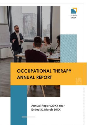 Annual Report For Occupational Therapy PDF DOC PPT Document Report Template