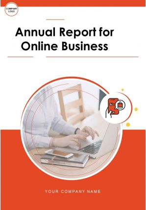 Annual Report For Online Business PDF DOC PPT Document Report Template