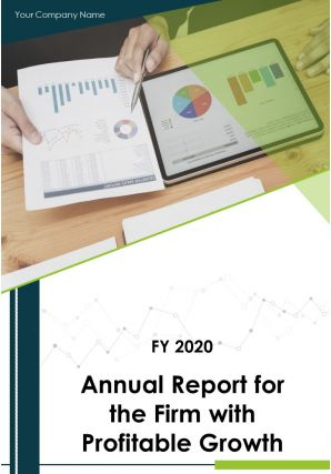 Annual Report For The Firm With Profitable Growth PDF DOC PPT Document Report Template