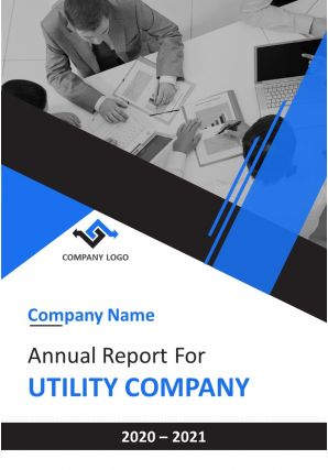 Annual Report For Utility Company PDF DOC PPT Document Report Template