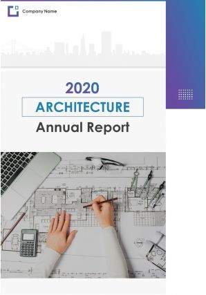 Architecture Annual Report PDF DOC PPT Document Report Template