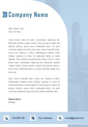 Architecture Official Letterhead Design Template