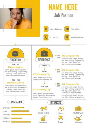 Attractive Business CV Design Templates For Professionals