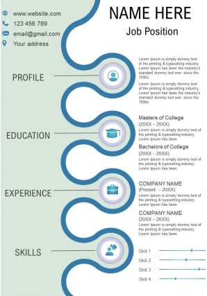 Attractive CV Resume Infographic PPT Template