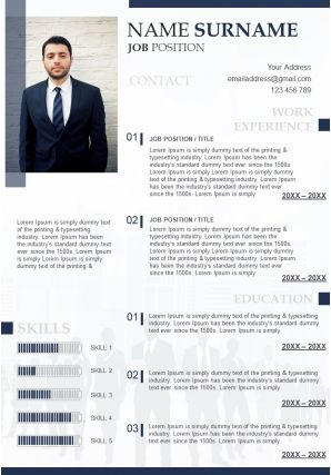 Attractive Resume Powerpoint Template For Business Professionals