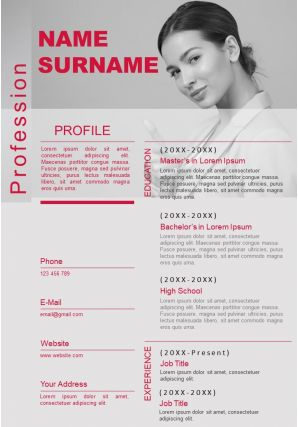Best Curriculum Vitae Resume Infographic Example Editable Template