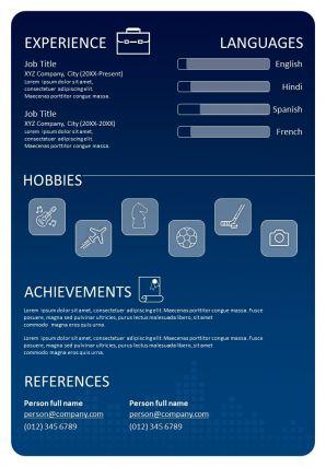 Best CV Resume Example Editable Template
