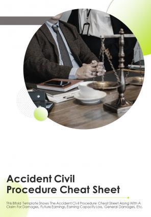 Bi Fold Accident Civil Procedure Cheat Sheet Document Report PDF PPT Template