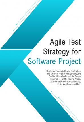 Bi Fold Agile Test Strategy Software Project Document Report PDF PPT Template
