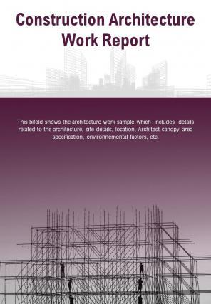 Bi Fold Construction Architecture Work Document Report PDF PPT Template