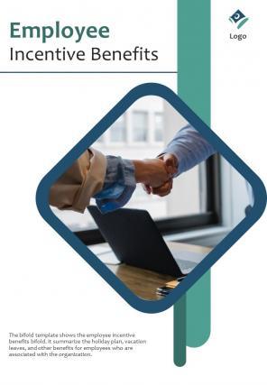 Bi Fold Employee Incentive Benefits Document Report PDF PPT Template
