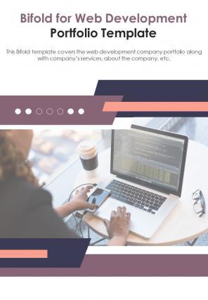 Bi Fold For Web Development Portfolio Document Report PDF PPT Template