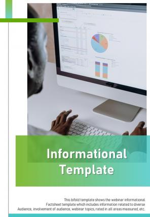 Bi Fold Informational Document Report PDF PPT Template