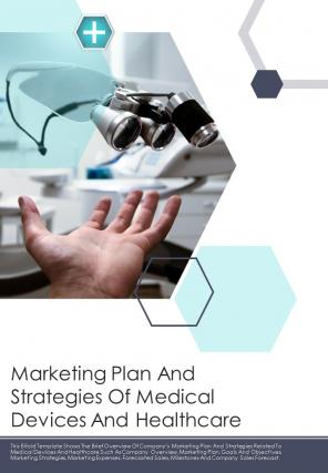 Bi Fold Marketing Plan And Strategies Of Medical Devices And Healthcare Document Report PDF PPT Template