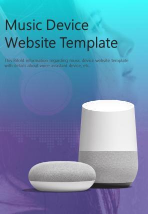Bi Fold Music Device Website Document Report PDF PPT Template