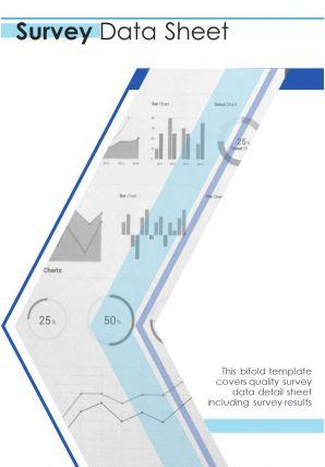 Bi Fold Survey Data Sheet Document Report PDF PPT Template