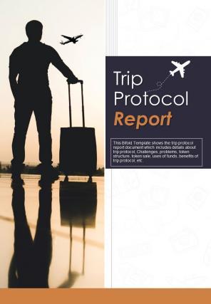 Bi Fold Trip Protocol Document Report PDF PPT Template