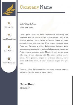 Branding Company Letterhead Design Template