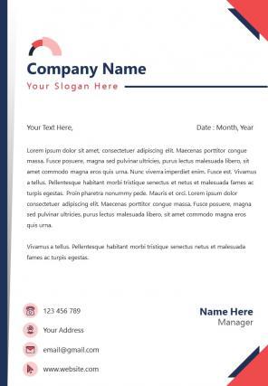 Business Employment Letterhead Design Template