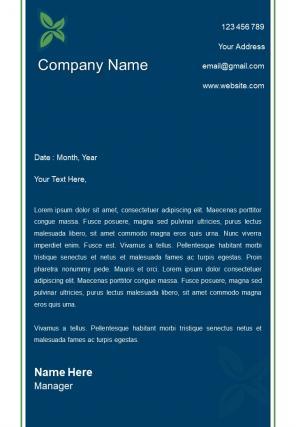 Business Environment Letterhead Design Template