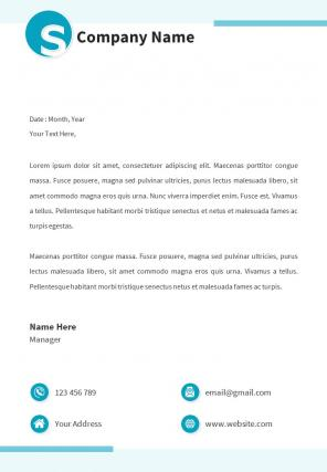 Business Letterhead Design Template