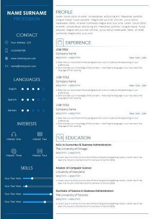 Career Summary Statement Resume Sample Template