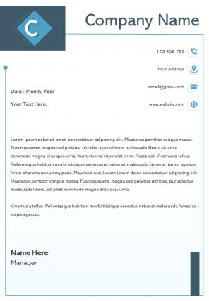 Charity One Page Letterhead Design Template