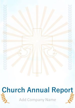 Church Annual Report PDF DOC PPT Document Report Template