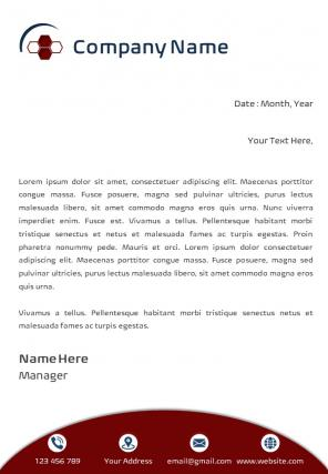 Cleaning Company Letterhead Design Template