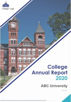 College Annual Report PDF DOC PPT Document Report Template