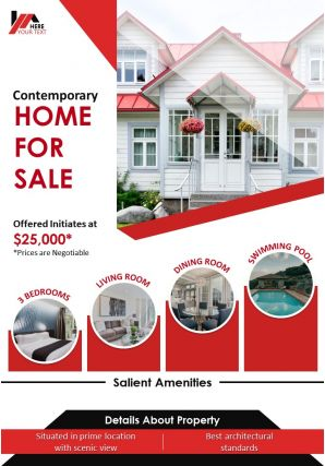 Commercial Property For Sale Two Page Brochure Template