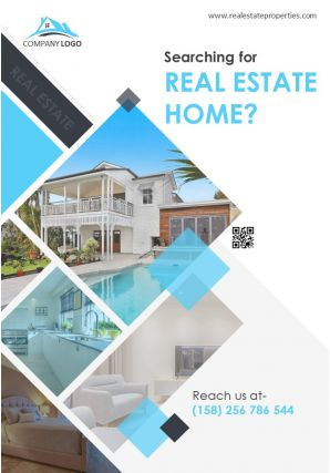 Commercial Real Estate Marketing Four Page Brochure Template