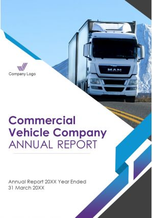 Commercial Vehicle Company Annual Reports PDF DOC PPT Document Report Template