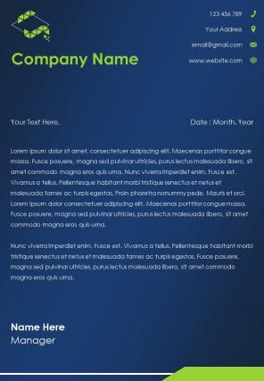 Computer Software Letterhead Design Template