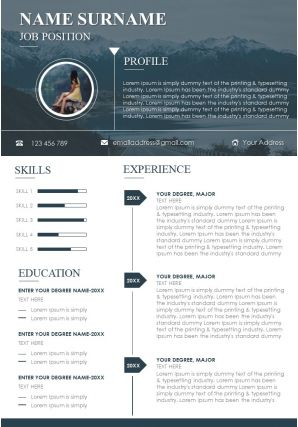 Concise And Aesthetically Pleasing CV Template