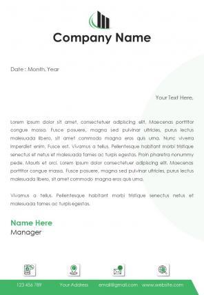 Consulting Services Letterhead Design Template